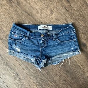 Distressed Hollister Jean Shorts